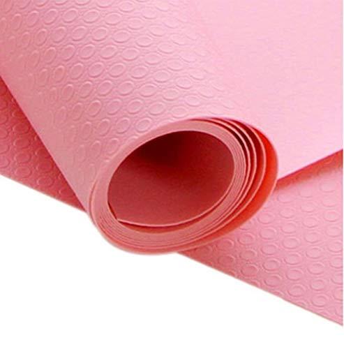 LZFLZ 45 * 29 cm Tisch Kühlschrank Anti wasserdichte Matte Pad Multifunktions Kühlschrank Anti-Fouling Lebensmittel Geschirr Achterbahn (Color : Red)