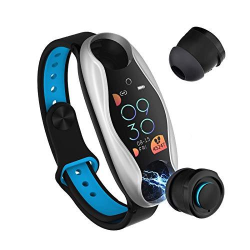 oneforus LT04 Smart Armband Dual Bluetooth Kopfhörer Armband Bluetooth Sport Wasserdichtes Armband Smart Watch,...