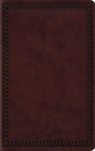 ESV Large Print Value Thinline Bible (TruTone, Mahogany, Border Design)