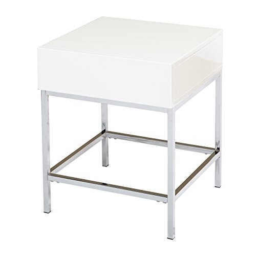 Target Marketing Systems End Table, White
