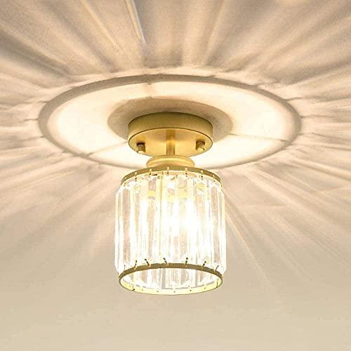 Lámpara de pared Lámpara de entrada Lámpara de techo de cristal Lámpara de techo Hogar Balcón Lámpara de oro E27 Estudio de la lámpara de la sala del pasillo Lámpara de pared-Sin fuente de luz