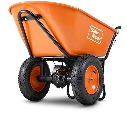 SuperHandy Ultra Duty Electric Powered Wheelbarrow Utility Cart