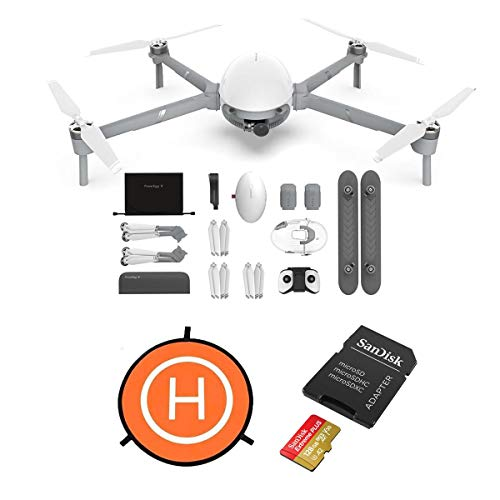 PowerVision PowerEgg X Wizard Aerial Drone, Autonomous Personal AI Camera with Handheld Mode, 4K/60fps Camera, 3-Axis Gimbal, Waterproof Housing + Water-Landing Float, Landing Pad, 128 MicroSDXC Card