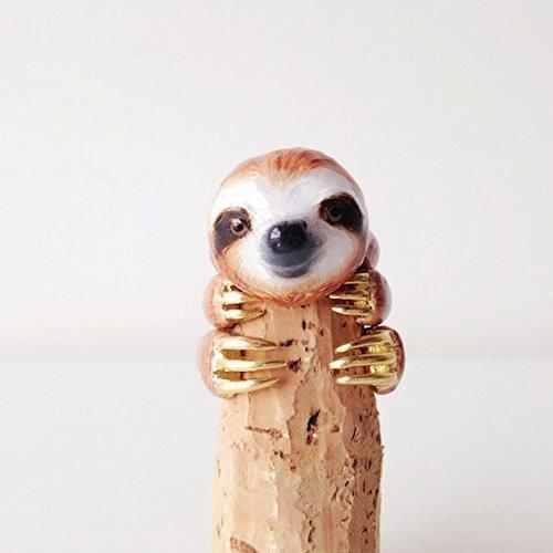 Mary Lou Orange Sloth Ring Set