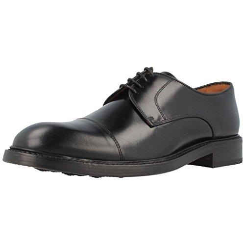 Lottusse L6723, Zapatos Derby Hombre, Negro (Jocker Pelar Negro), 44 EU