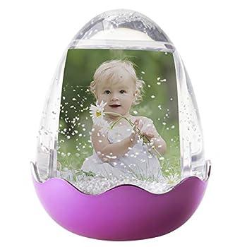 Easter Egg Photo Snow Globe  Pink