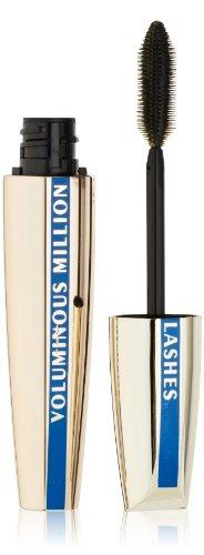 L'Oreal Paris Voluminous Million Lashes Waterproof Mascara, Blackest Black, 0.32 Ounces