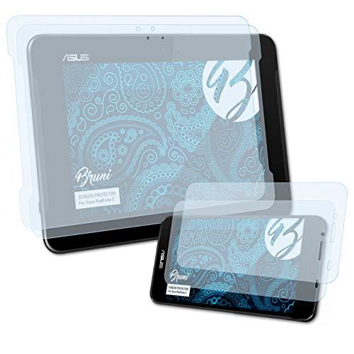 Bruni Schutzfolie kompatibel mit Asus PadFone S/PadFone X (US) Folie, glasklare Bildschirmschutzfolie (2er Set)