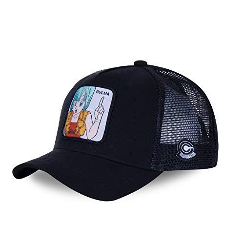 Capslab - Gorra de béisbol, diseño de Dragon Ball Z Bulma (Noir) Talla única