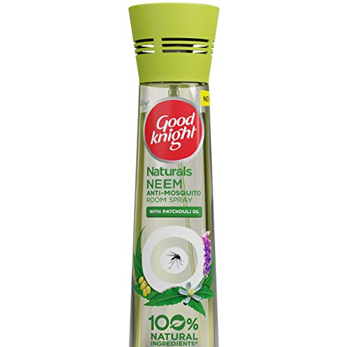 Good Knight Naturals – Neem Anti Mosquito Room Spray with 100% Natural Active Ingredients (Safe for Kids and Adults), 150ml