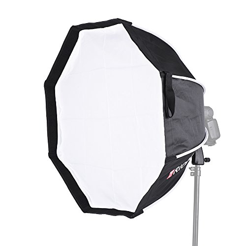 Andoer TRIOPO - Caja de luz plegable de 8 polos octágono con mango de tela suave para Godox Yongnuo Andoer en la cámara de luz flash