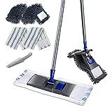 MASTERTOP Professional Microfiber Mop - Microfiber Sweeper Dust Mop,Wet & Dry Floor Cleaning Mop, 4 Replaceable Washable Mop Pads, Extendable Handle, Flat Magic Mop for Hardwood, Tiles, Laminate