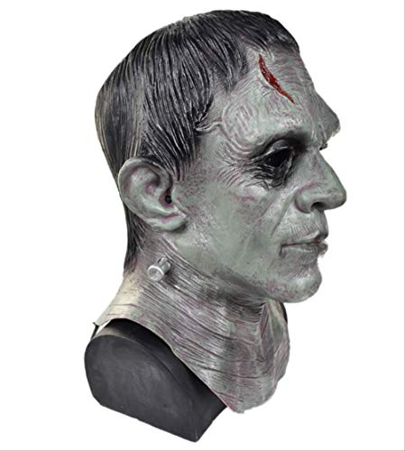 tytlmaske Deluxe Frankenstein Monster Maske,Latex Halloween Horror Phantasie Maske,Für Zombie Movie Game Cosplay Requisiten,Unisex