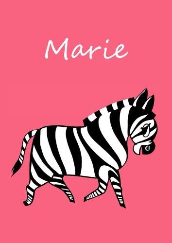Malbuch / Notizbuch / Tagebuch - Marie: DIN A4 - blanko
