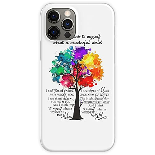 Think Vintage Love to A I and World Hippie Myself What Wonderful Phone Case for All iPhone, iPhone 11, iPhone XR, iPhone 7 Plus/8 Plus, Huawei, Samsung Galaxy