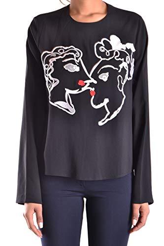 MSGM Luxury Fashion Damen MCBI28227 Schwarz Viskose T-Shirt   Jahreszeit Outlet