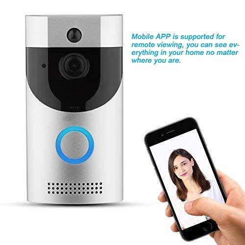Videodeurbel, WiFi Draadloos Slimme visuele opname Beveiliging Intercom Deurbel Kijker Toegangsset voor huisvilla-appartementen