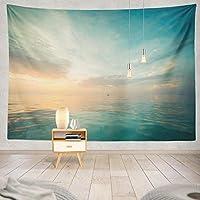 ANLAI 海と空の海景壁掛けタペストリー ンンド 壁飾り 家 リビングルーム ベッドルーム 部屋 おしゃれ飾り 150cm x 100cm