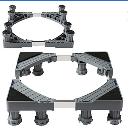TISESIT INDOOR 2020 Washing Machine Base Base Feet Adjustable Stainless Steel Base Universal Holder for Dryer Washing Machine And Refrigerator,8 feet