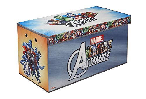 Fresh Home Elements Licensed Toy Box Chest, 30' Avengers Soft Storage