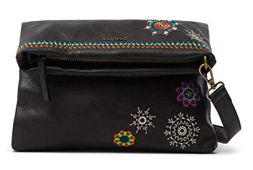 Desigual PU Body Bag, Bolsa para cuerpo de Across para Mujer, marrón, U