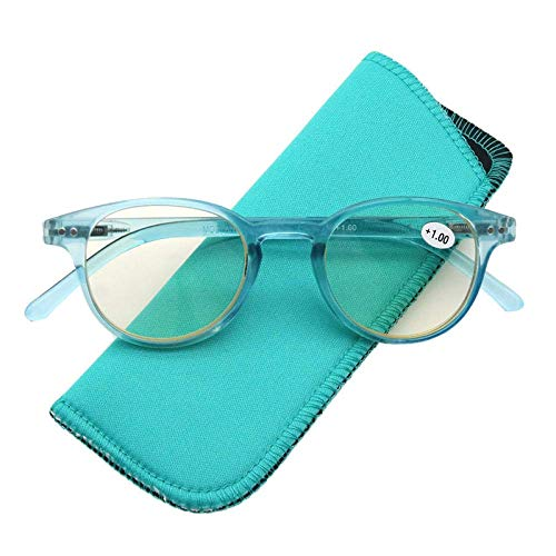 SEESEE.U Runde Lesebrille Frauen Männer Anti Blue Ray Licht Mode Retro Vintage Computer Brille Presbyopic Glass Diopter 0 0,5 2