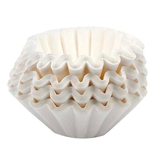 Yushu - 500 hojas de 25 cm de papel de filtro de café comercial, cesta de café filtros de papel, filtro de café de barra de cocina, no tóxico y sin olor, adecuado para cafetera