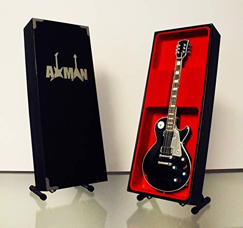 Axman John Sykes (Thin Lizzy/Whitesnake) Réplica de guitarra en miniatura con caja de exhibición y soporte