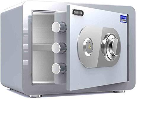 XLBHSH Caja Segura Cerradura de combinación a Prueba de Fuego, Bloqueo de Acero de Alta Seguridad Cerradura mecánica Segura de Acero ASEJO Capacidad ANTITUBRO ANTITHFT,Plata