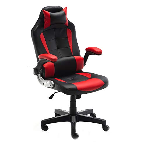 ALEKO ALC6128RDBK Ergonomic Reclining High-Back Office/Gaming Chair - Red and Black chair gaming red