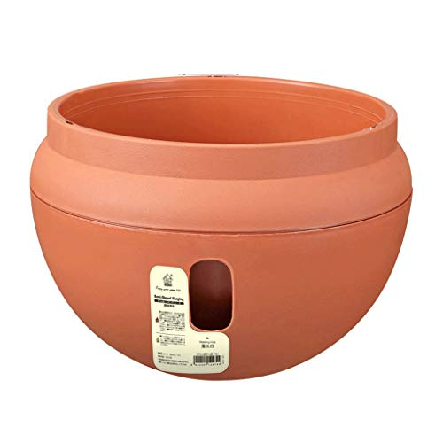 flower pot TXC, macetas de jardín colgantes para colgar macetas, para colgar en la pared, de resina, para colgar en la pared (color: naranja, tamaño: M)