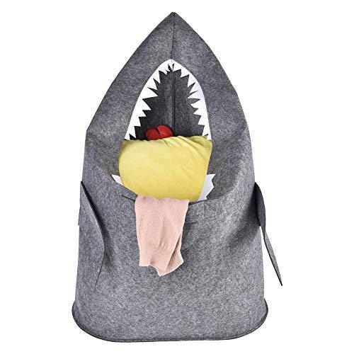 Clevoers - Cesto para la Ropa Infantil, Estilo nórdico, diseño de tiburón