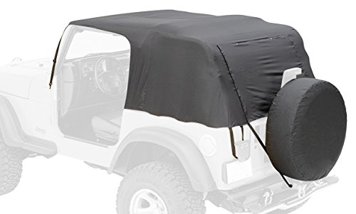 Pavement Ends by Bestop 56815-01 Black Emergency Top for for 2007-2018 Wrangler JK Unlimited