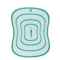 柔軟なプラスチックまな板、キッチンカッティングボードマットは、食器洗い機は、肉野菜用食品ボードをぶら下げ (Color : Green, サイズ : 40cm)