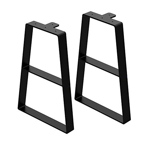 """Orgerphy 16"""" Black Trapezoid Metal Bench Legs (2PCS) 