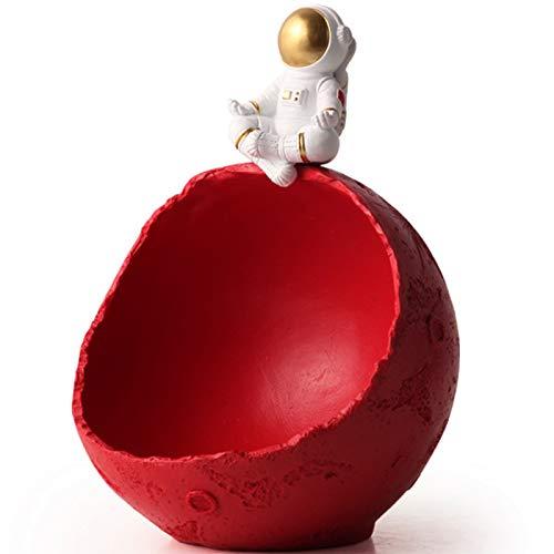 XDYFF Astronauta Estatuas Decorativas Modernas Figura Esculturas Decoración, Bandeja De Almacenamiento por Inicio/Sala De Estar/Mesa De Centro/Mesa De Comedor/Porche,A