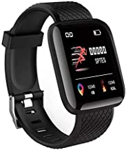 HUG PUPPY Screen Smart Fitness Watch,Waterproof Smart Activity Tracker with Heart Rate Monitor,Pedometer,Calorie Counter,Sleep Monitor, SMS/SNS Alert- 1pc