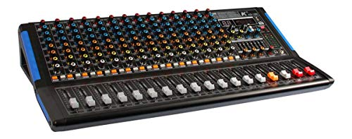 K KG-16B - Mezclador de 16 canales con efectos incorporados, 2 Aux, 7 bandas Master Eq, Bluetooth y reproductor Mp3