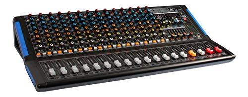 K KG-16B - 16 kanalen Mixer met ingebouwde effecten, 2 Aux, 7 Band Master Eq, Bluetooth en Mp3 Player