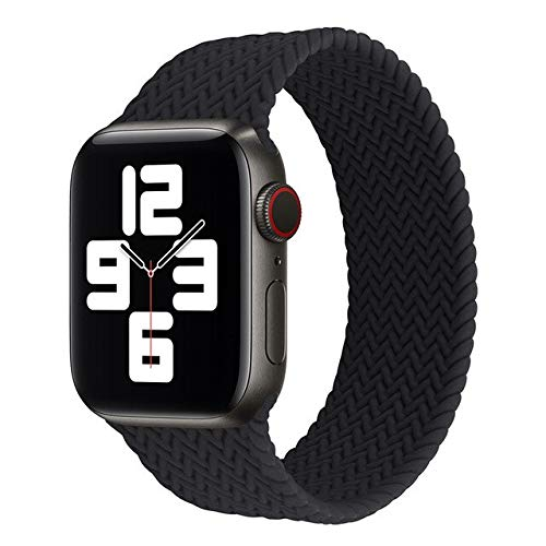 MAIDEN Correa trenzada compatible con Apple Watch 6 SE Band 44 mm 40 mm pulsera elástica de silicona compatible con Iwatch Series Se 6 5 4 3 2 38 mm 42 mm bandas