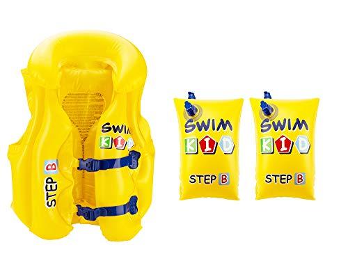 VAPIAO - Bote hinchable para niños gris Set de natación 2 en 1.