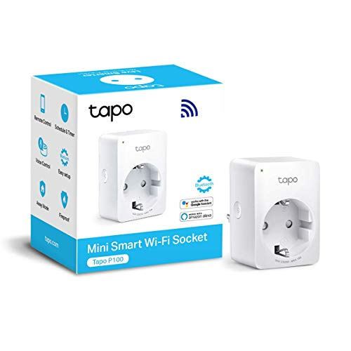 TP-Link Tapo P100 V1.2 Presa Intelligente WiFi Smart Plug, Compatibile con Alexa e Google Home, Controllo Remoto tramite APP Tapo, Supporta Amazon Frustration-Free Setup (FFS)