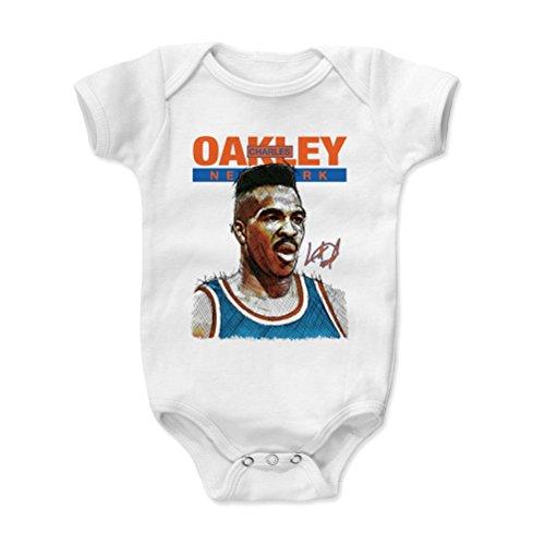 500 LEVEL Charles Oakley New York Baby Clothes, Onesie, Creeper, Bodysuit (Onesie, 3-6 Months, White) - Charles Oakley Sketch B