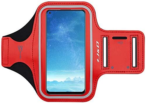 J&D Compatible para Redmi Note 9/9 Pro/9T 5G/8 Pro/8T/7/Redmi 9/9T/7/Xiaomi Poco F3/X3 Pro/X3 NFC/M3 Brazalete Deportivo para Correr, Ranura para Llaves, Conexión Auriculares