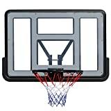 Portable Basketball Hoops & Goals Wall Mounted Large Basketball Backboard, Indoor Outdoor Over The Door Kids Games Hoop Net Rim, 43×30inch, Easy Assembly (Size : W110×H75cm)