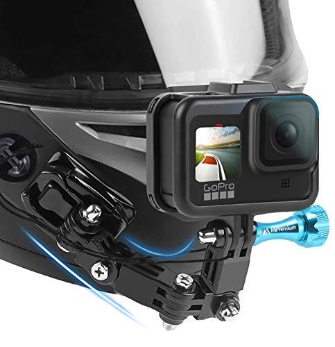 MiPremium Motorcycle Helmet Chin Mount Kits for GoPro Hero 4 5 6 7 8 Black Silver Session,...