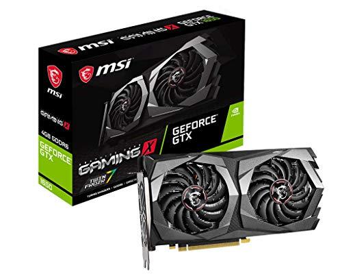 MSI Gaming GeForce GTX 1650 128-Bit HDMI DP 4GB GDRR6 HDCP Support DirectX 12 Dual Fan VR Ready OC Graphics Card (GTX 1650 D6 Gaming X)