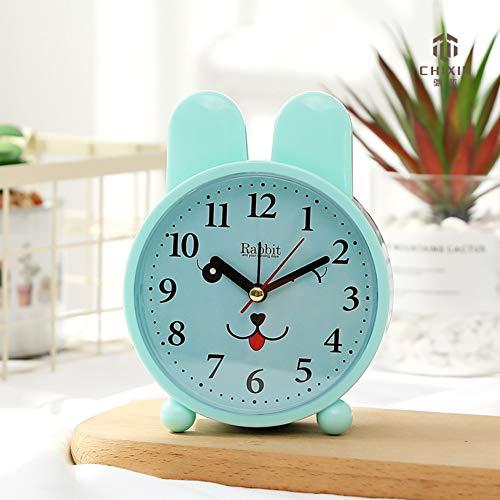 DDGOD Musique Réveil pour Les Enfants,Classique Bureau Horloge Créatif Radio-réveils sans tic-tac Silencieuse Mignon Snimal Radio-réveils pour Les Ados Filles-D 10x5x15cm(4x2x6in)