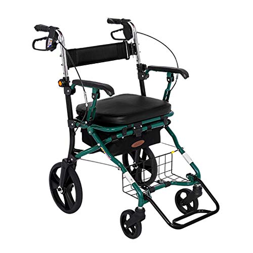 Rollatoren- Faltbare Gehhilfe mit elektrostatischem Sprühverfahren, Vollgummireifen TPR, höhenverstellbar, maximale Belastung 150 kg, Größe 62 * 57 * (89-93) cm