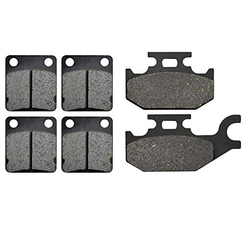 XULONG Motorcycle Replacement Front & Rear Brake Pads Compatible with YAMAHA YFM450 Grizzly 450...